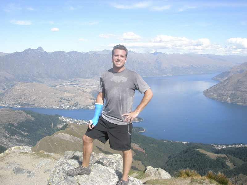 On the summit of Ben Lomond- Queenstown, New Zealand