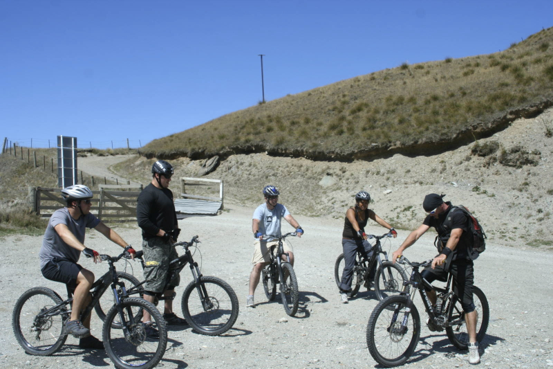Mountain biking in Skipper\'s Canyon- Queenstown, New Zealand