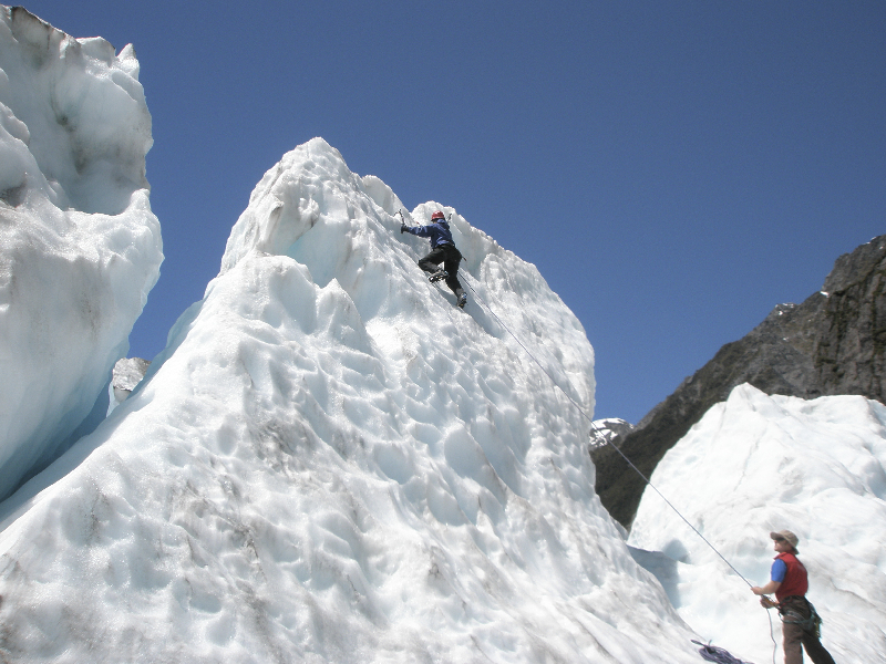 Ice climbing course on Fox Glacier- New Zealand