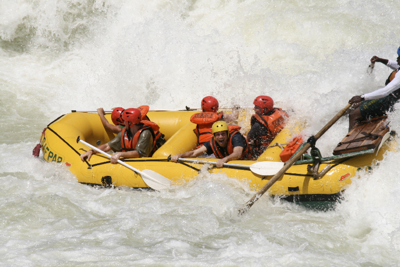 Class 5 rapids on the Zambezi River- Zambia