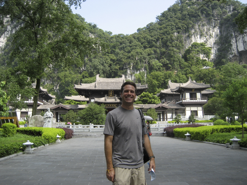 Exploring temples in Guilin, China