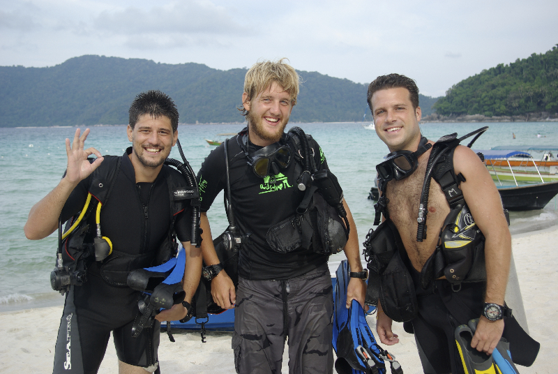 Taking the PADI Advanced Open Water course in Malaysia