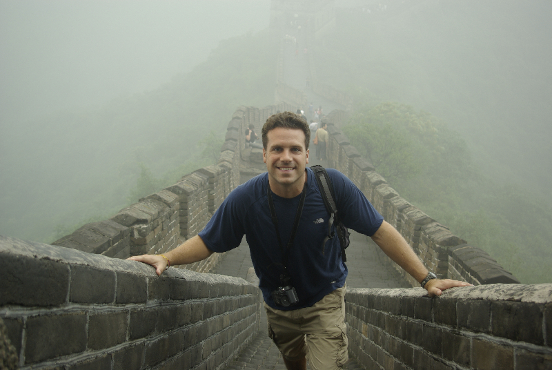 Exploring along the Great Wall of China