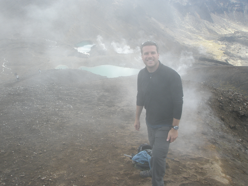 Lost in the steam by the Emerald Lakes- Tongariro Crossing, Taupo, New Zealand