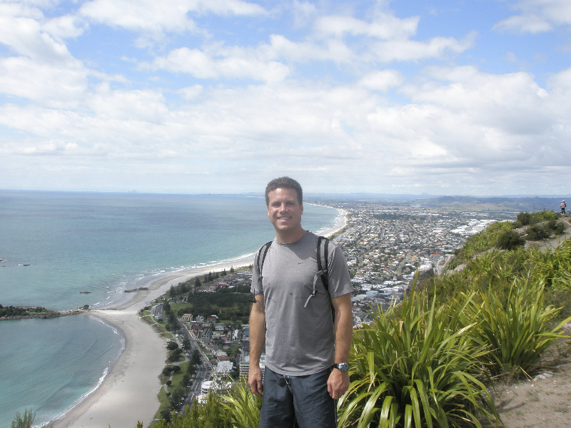 Great views after a long climb up Mt. Maunganui