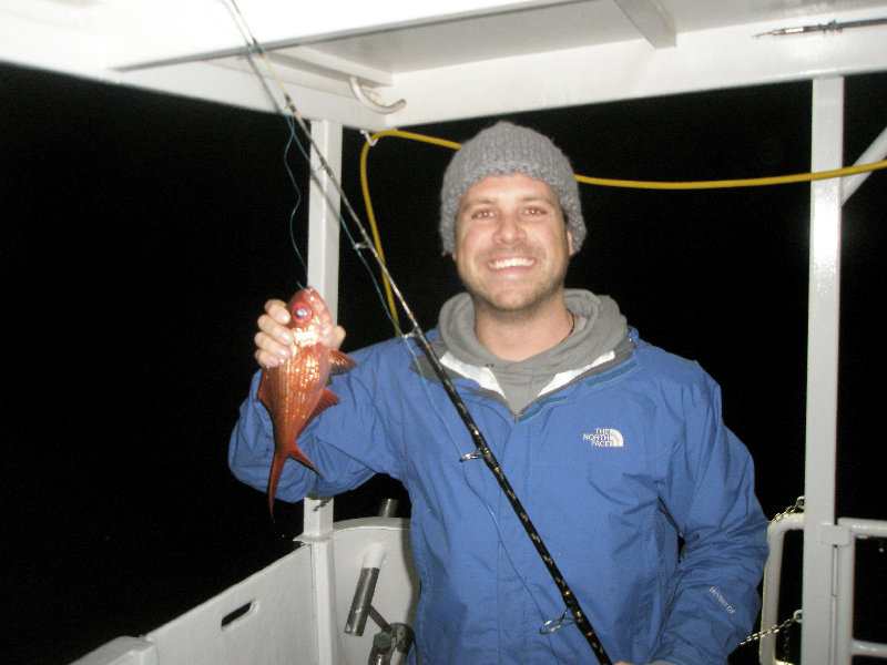 Late night fishing- hoping NOT to catch a shark- Neptune Islands, South Australia