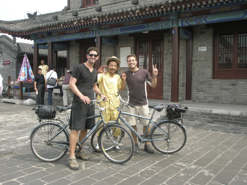 Riding bikes around the ancient city walls- Xi\'an, China