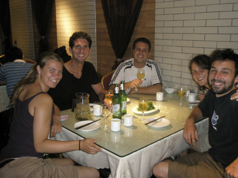 Dinner with friends in Xi\'an, China- REAL Chinese food!