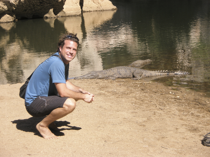 Getting friendly with the resident crocs along the Gibb River Road, Northern Territory, Australia