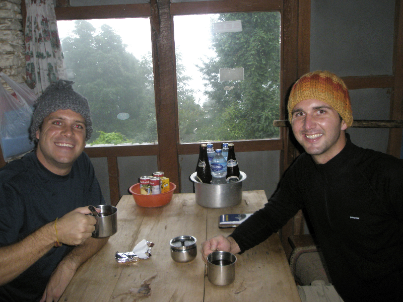 Time for a hot Masala tea! Relaxing at a tea house along the Annapurna Circuit- Nepal