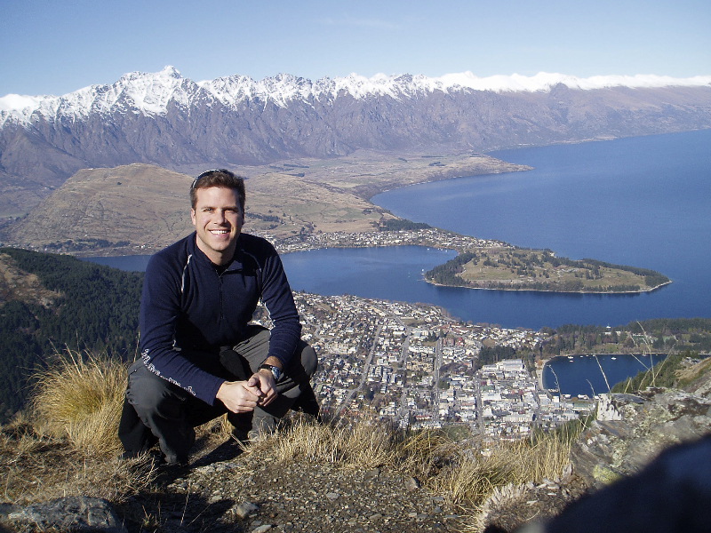 Hiking high above Queenstown, New Zealand