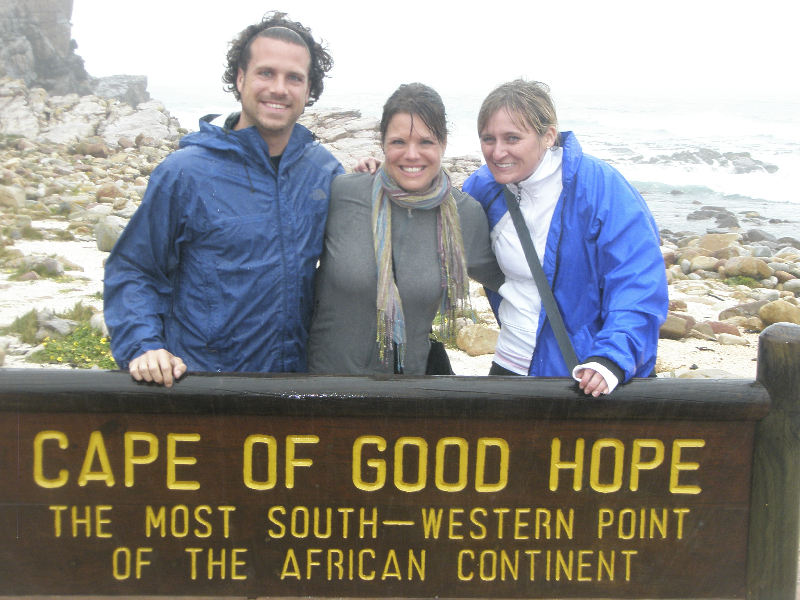 Braving the weather at the Cape of Good Hope- South Afrca