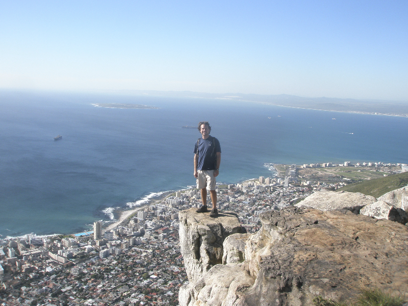 On the edge, HIGH above Cape Town, South Africa