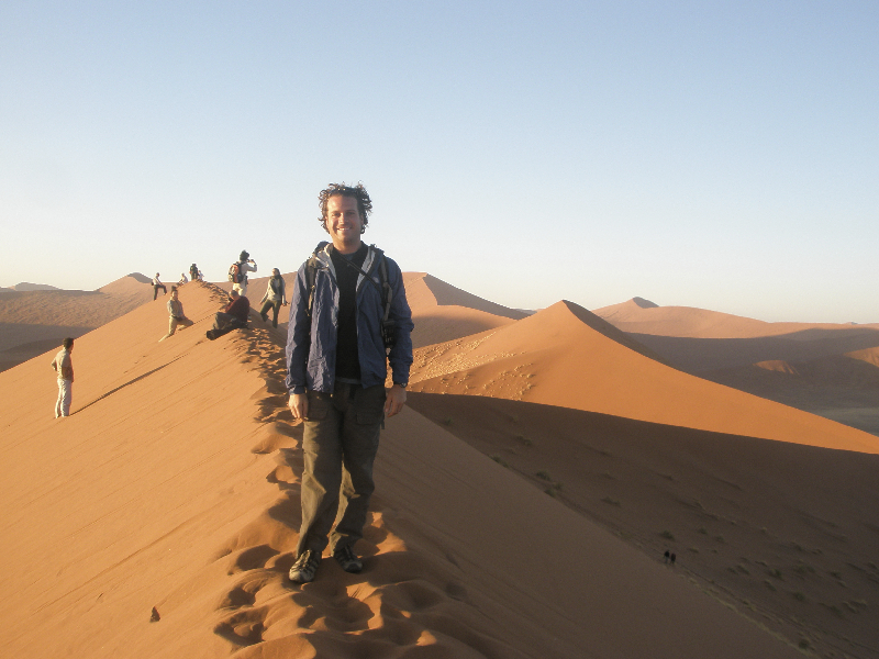 Hiking up Dune 45 for sunrise- Sossusvlei, Namibia