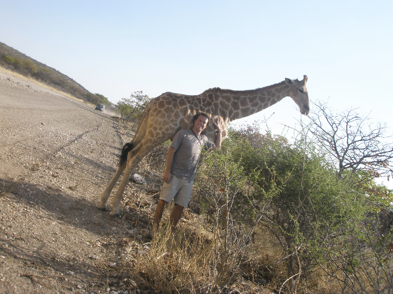 Making new friends on safari in Africa