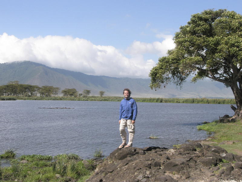On safari inside the Ngrongoro Crater- Tanzania