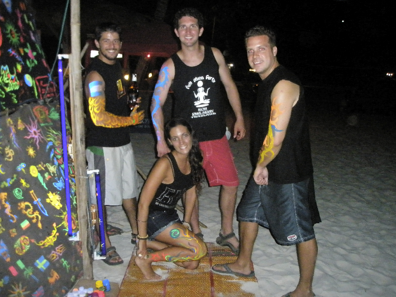 Getting ready for the Full Moon Party- Ko Pha Ngan, Thailand