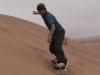 Sandboarding in Swakopmund, Namibia