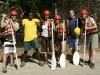 Time to hit the rapids- Rafting crew on the Zambezi- Zambia, Africa