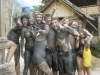 Wild, crazy, EPIC mud fight- only in Vang Vieng, Laos...