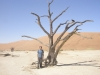 Surreal landscape in Dead Vlei- Sossusvlei, Namibia