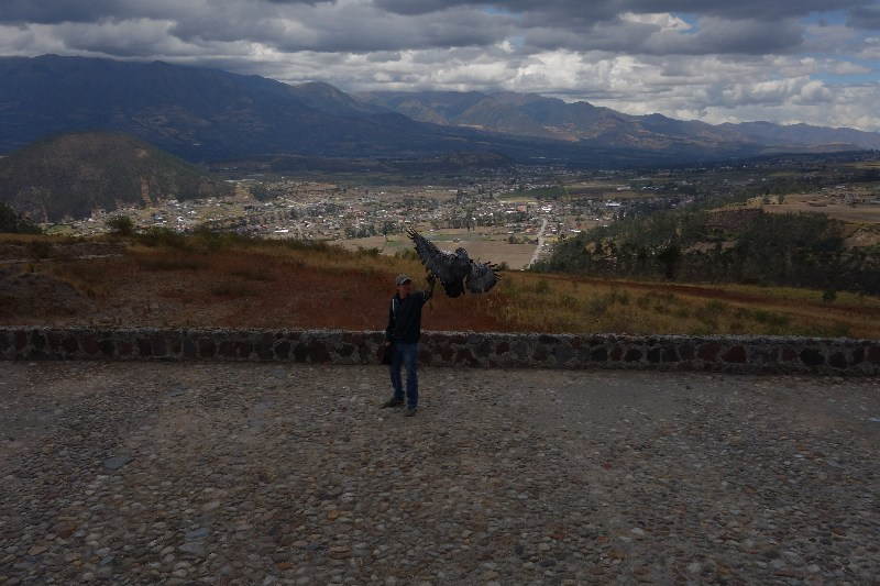 backpack, backpacking, budget, adventure, explore, U, university, world, campus, field, note, professor, South, America, Ecuador, Otavalo, Banos, condor, eagle, parque, park, flight, demonstration, market, craft, local, indigenous, native, art, clothes, waterfall, cascade, Diablo, jeep, bath, hot, steam, volcano, jeep, hire, rent, cuicocha, laguna, lake, crater, hike, trail, mountain,